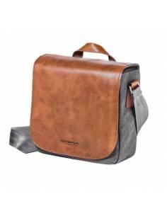 OLYMPUS Kit PREMIUM: Bolsa mini Messenger + SD16 + Correa piel
