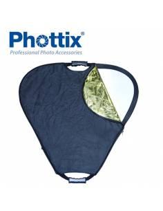 PHOTTIX Reflector triangular 5 en 1 con asas de 120cm PX86492