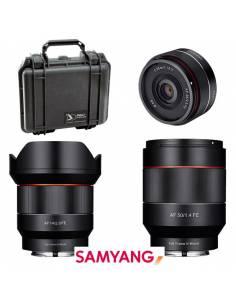 Kit SAMYANG AF35 + AF14 + AF50 para SONY E