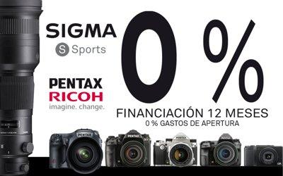 Hasta 12 meses sin intereses en Sigma y Pentax