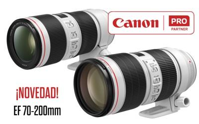 Nuevos objetivos CANON EF 70-200mm Serie L