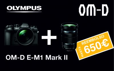 Promoción Olympus: E-M1 Mark II. Nuevo Cashback Pro