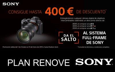 Plan renove de SONY: Hasta 400€ adicionales