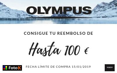 Reembolso de 100€ en tu equipo Olympus