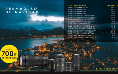 Reembolso de hasta 700€ en artículos Nikon