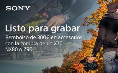 Reembolso de 300€ en accesorios por la compra de tu cámara de video Sony