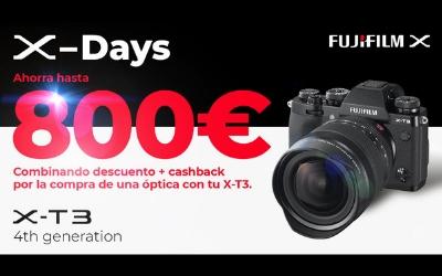 Ahórrate hasta 800€ en la compra de tu Fujifilm X-T3