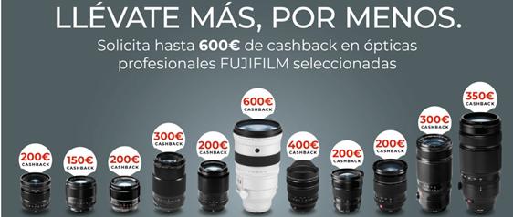 Ahorra 600€ en objetivos Fujifilm