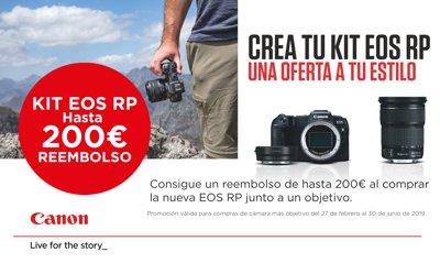 Canon EOS RP, oferta de lanzamiento de 200€ de REEMBOLSO