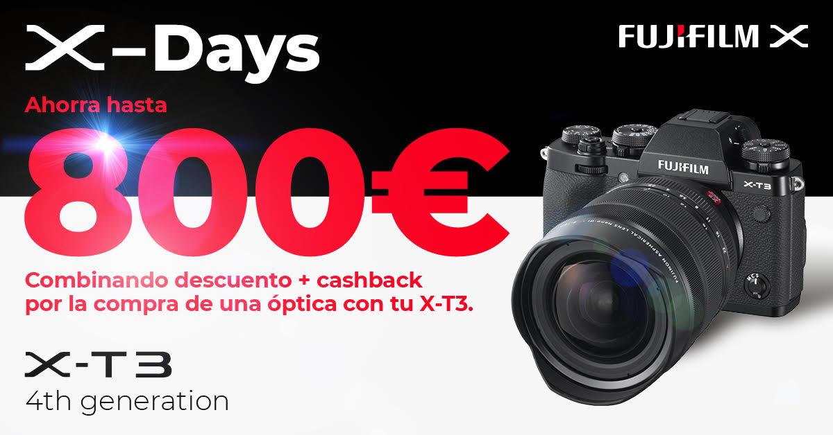 Ahorra 800€ con Fujifilm X-T3