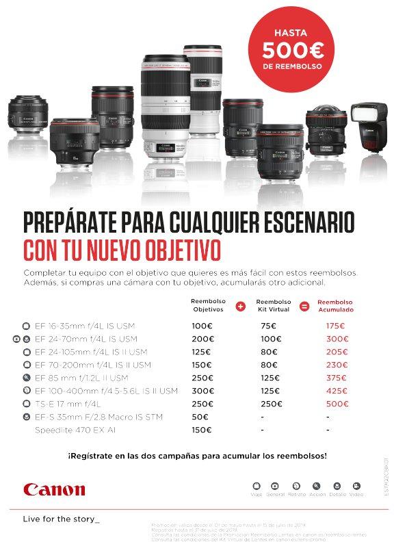 Promoción objetivos Canon en Foto K