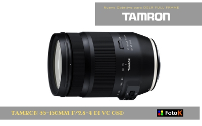 Tamron anuncia un rápido y compacto zoom para retratos 35-150mm F/2.8-4 Di VC OSD