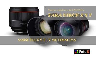 Nuevos objetivos de Samyang para Nikon Z