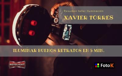 Resumen taller de Iluminación con luz contínua con Xavi Torres y Rotolight