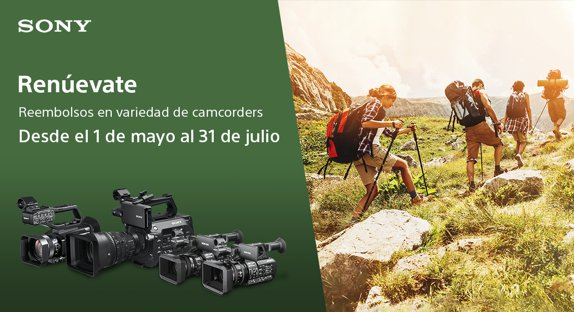 Hasta 500€ en Reembolsos por tu cámara de video profesional