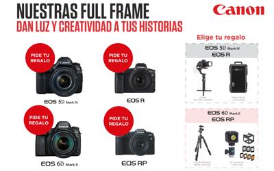Escoge Tu Regalo por la compra de una Full Frame Canon