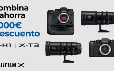 Combina y ahorra Hasta 1100€ de descuento en ópticas para video/cine Fujifilm
