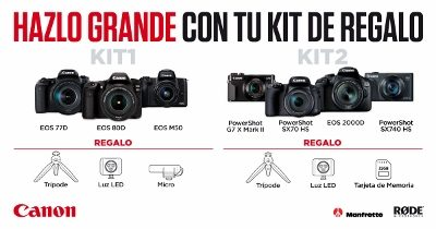 Kit Vlogger de regalo con tu cámara Canon