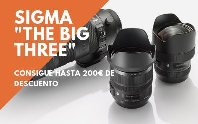 Descuentos de hasta 200€ en los «The Big Three» de Sigma