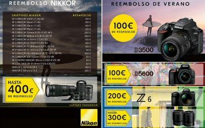 Consigue un reembolso hastas 800€ por la compra de una selección de productos Nikon