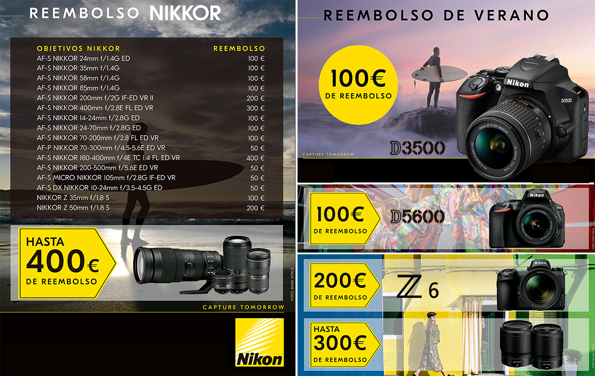 promoción reembolso Nikon Foto K