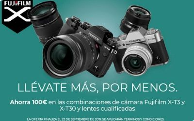 Ahorra 100€ en las FujiFilm X-T3 y X-T30