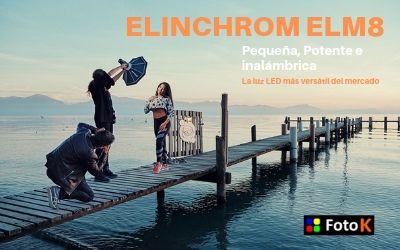 Nuevo Elinchrom ELM8, la luz LED más versátil del mercado.