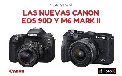 Ya están aquí las nuevas CANON EOS 90D y M6 MARK II