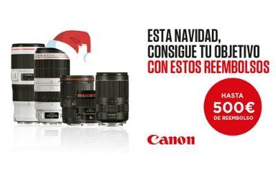 Hasta 500€ de Reembolso en objetivos Canon