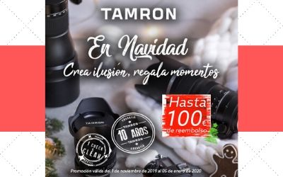 Hasta 100€ de Reembolso en objetivos Tamron