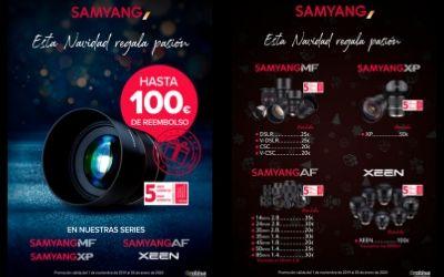 Hasta 100€ de Reembolso en objetivos Samyang