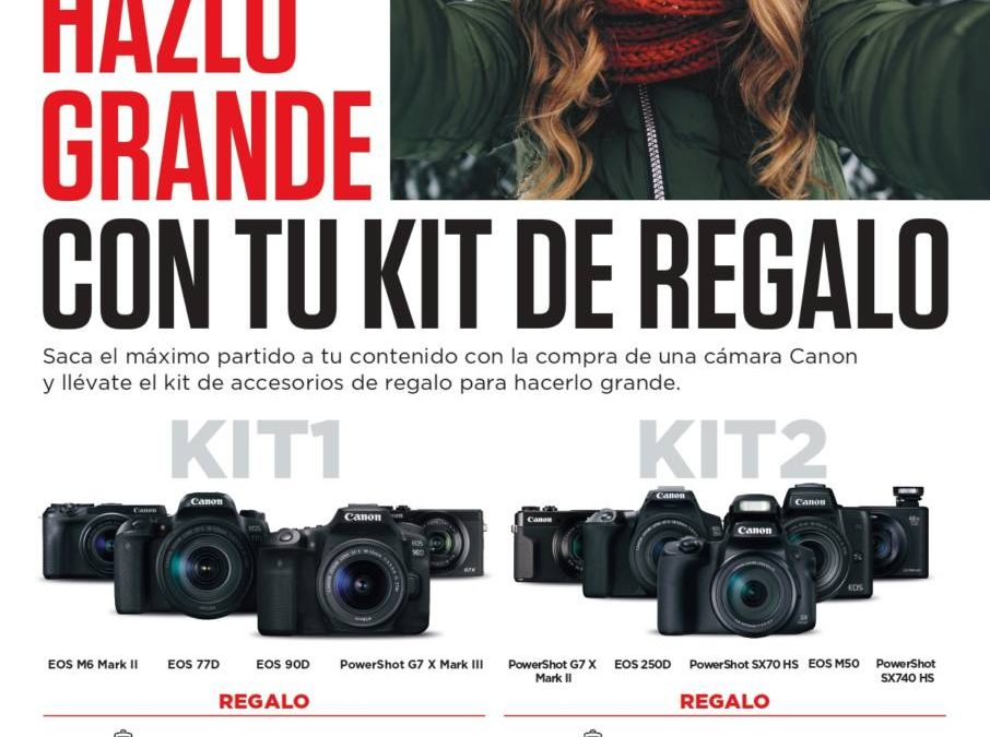 Kit V-Blogging de regalo con tu equipo Canon