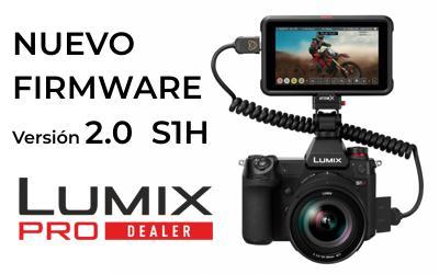 Actualización Lumix S1H con salida vídeo RAW en HDMI
