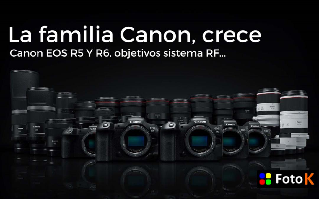 Canon EOS R5, EOS R6 y mucho más, todas las novedades de Canon
