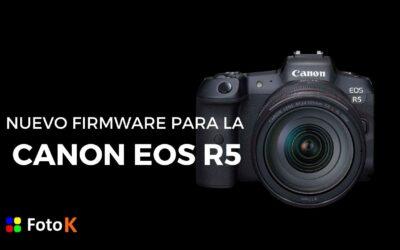 Nuevo firmware para la Canon EOS R5 y futuras actualizaciones