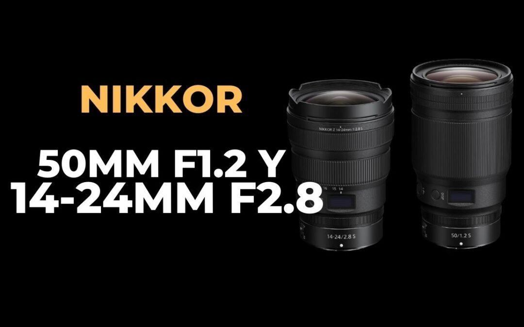 NIKKOR 50 mm y 14-24 mm las nuevas ópticas para NIKON Z