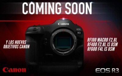 Novedades Canon, EOS R3 y 3 nuevos objetivos