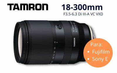 Nuevo Tamron 18-300mm para sensores APS-C Fujifilm y Sony